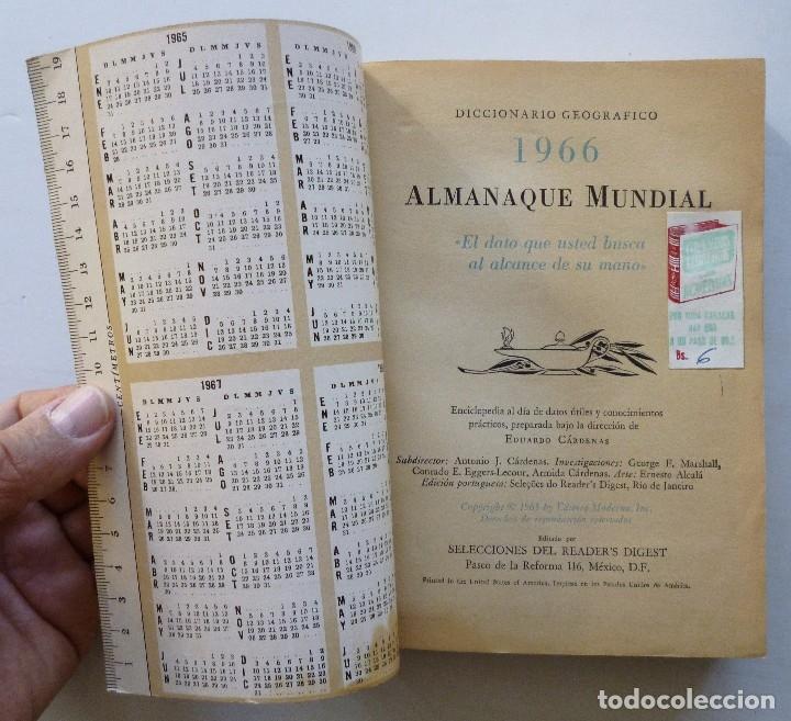 Diccionarios de segunda mano: ALMANAQUE MUNDIAL 1966 EDUARDO CARDENAS SELECCIONES DEL READER'S DIGEST MEXICO - Foto 7 - 172660460