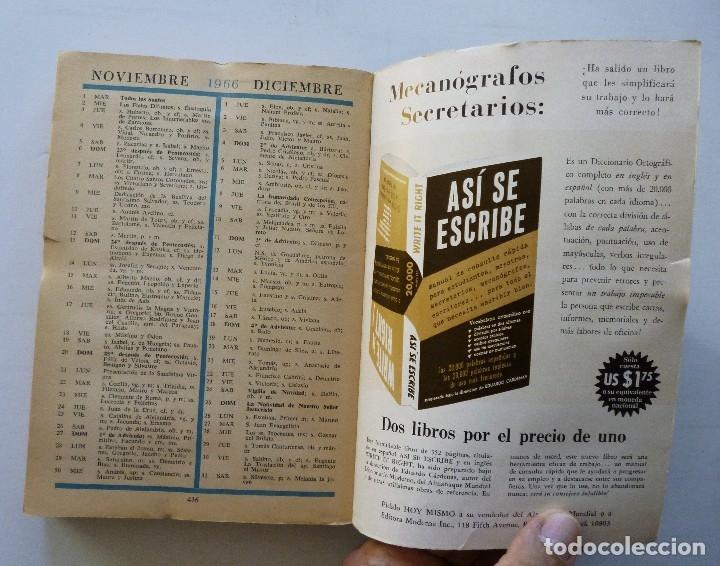 Diccionarios de segunda mano: ALMANAQUE MUNDIAL 1966 EDUARDO CARDENAS SELECCIONES DEL READER'S DIGEST MEXICO - Foto 16 - 172660460