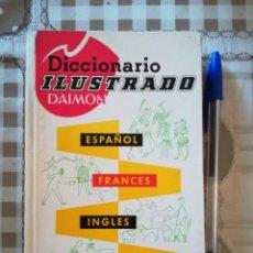 Diccionarios de segunda mano: DICCIONARIO ILUSTRADO DAIMON - ESPAÑOL / FRANCÉS / INGLÉS / ALEMÁN - 1957. Lote 172858309