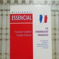 Diccionarios de segunda mano: LA CONJUGACIÓ FRANCESA. DICCIONARI ESSENCIAL - FRANÇAIS-CATALAN / CATALÀ-FRANCÈS - VOX. Lote 173149528