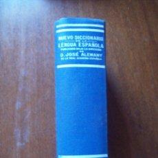 Livres d'occasion: NUEVO DICCIONARIO DE LA LENGUA ESPAÑOLA ALEMANY SOPENA. Lote 174229688