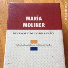 Diccionarios de segunda mano: MARIA MOLINER, DICCIONARIO DE USO DEL ESPAÑOL, GREDOS. Lote 174529015
