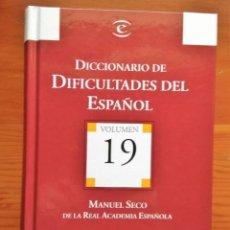 Diccionarios de segunda mano: DICCIONARIO DE DIFICULTADES DEL ESPAÑOL ** MANUEL SECO. Lote 175134780