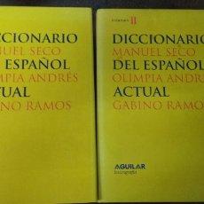 Libri di seconda mano: MANUEL SECO: DICCIONARIO DEL ESPAÑOL ACTUAL (2 TOMOS) (AGUILAR. 1999). Lote 175179250