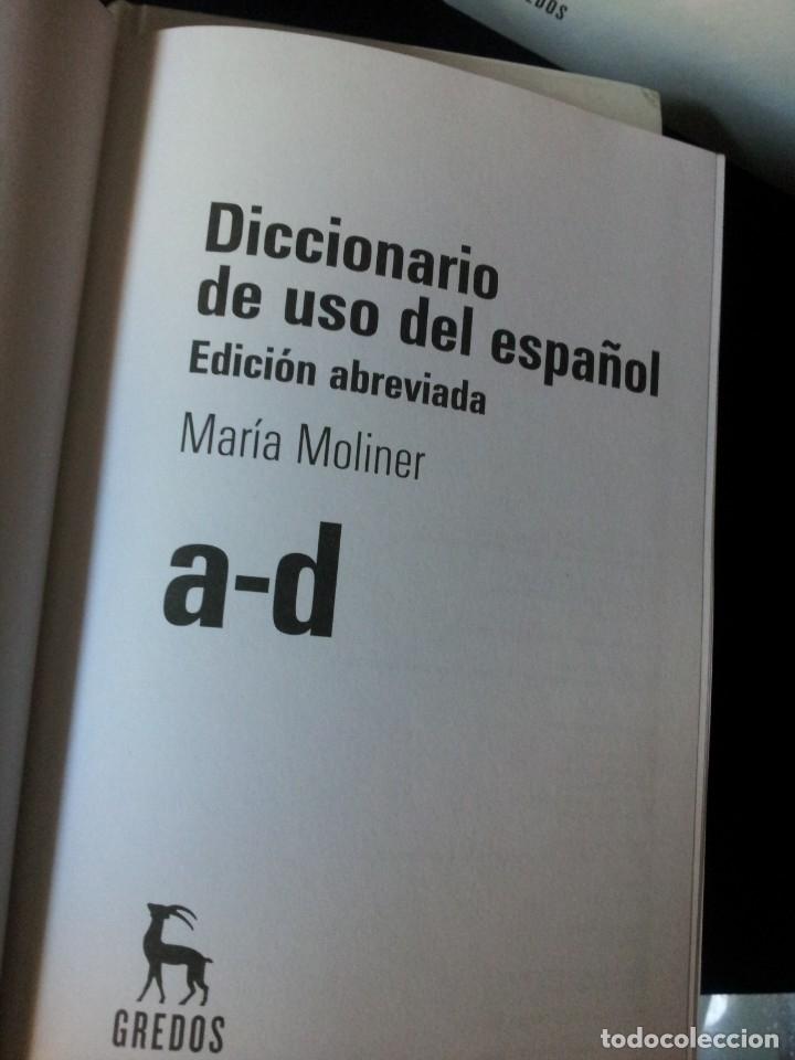 Diccionarios de segunda mano: GRANDES DICCIONARIOS - MARIA MOLINER, LAROUSSE, OXFORD UNIVERSITY PRESS, GREDOS Y JOAN COROMINES - Foto 7 - 175809173