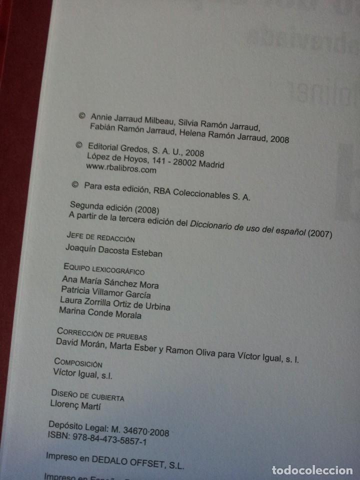 Diccionarios de segunda mano: GRANDES DICCIONARIOS - MARIA MOLINER, LAROUSSE, OXFORD UNIVERSITY PRESS, GREDOS Y JOAN COROMINES - Foto 8 - 175809173