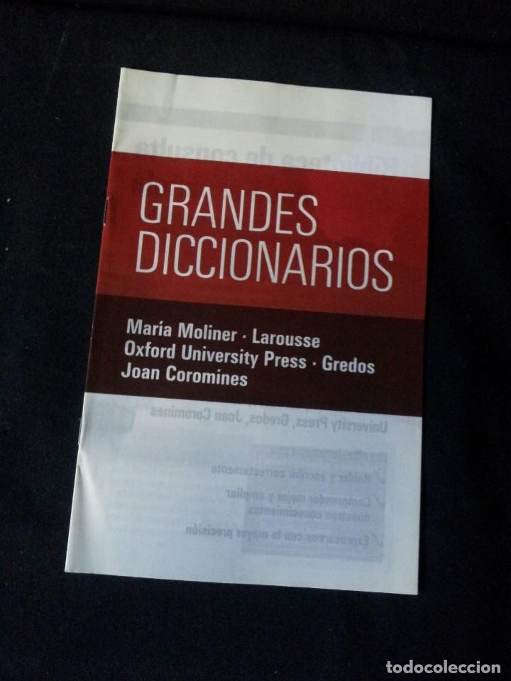 Diccionarios de segunda mano: GRANDES DICCIONARIOS - MARIA MOLINER, LAROUSSE, OXFORD UNIVERSITY PRESS, GREDOS Y JOAN COROMINES - Foto 9 - 175809173