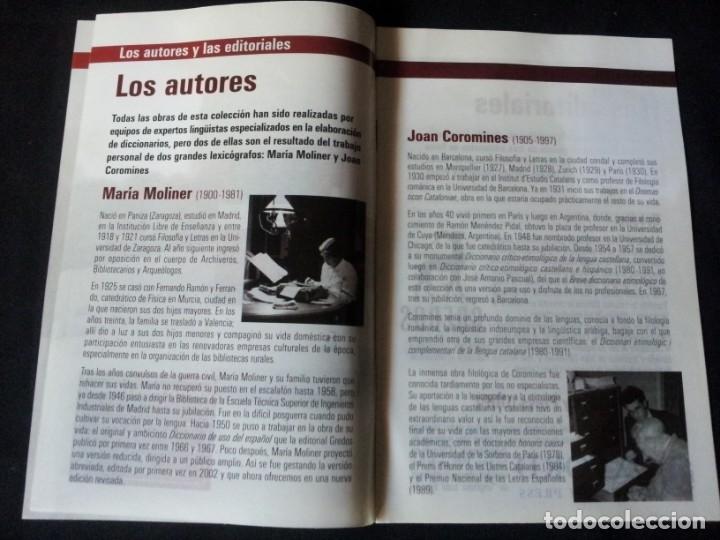 Diccionarios de segunda mano: GRANDES DICCIONARIOS - MARIA MOLINER, LAROUSSE, OXFORD UNIVERSITY PRESS, GREDOS Y JOAN COROMINES - Foto 11 - 175809173