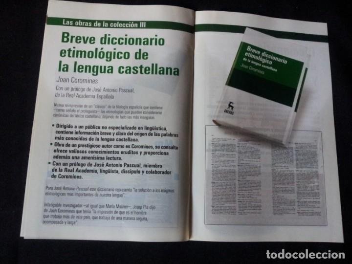 Diccionarios de segunda mano: GRANDES DICCIONARIOS - MARIA MOLINER, LAROUSSE, OXFORD UNIVERSITY PRESS, GREDOS Y JOAN COROMINES - Foto 15 - 175809173