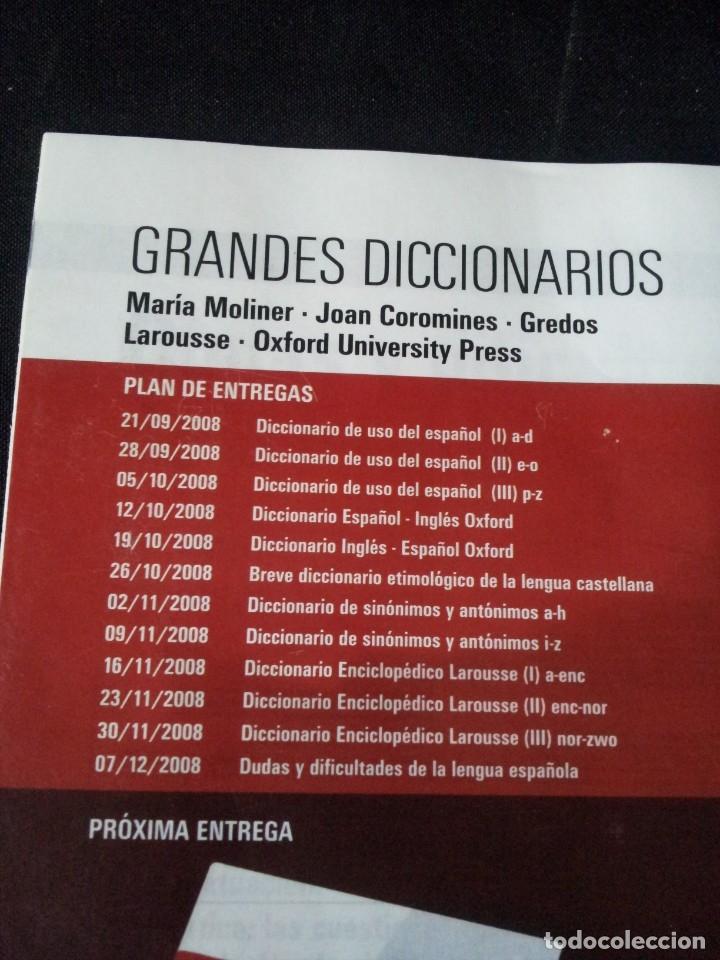 Diccionarios de segunda mano: GRANDES DICCIONARIOS - MARIA MOLINER, LAROUSSE, OXFORD UNIVERSITY PRESS, GREDOS Y JOAN COROMINES - Foto 19 - 175809173
