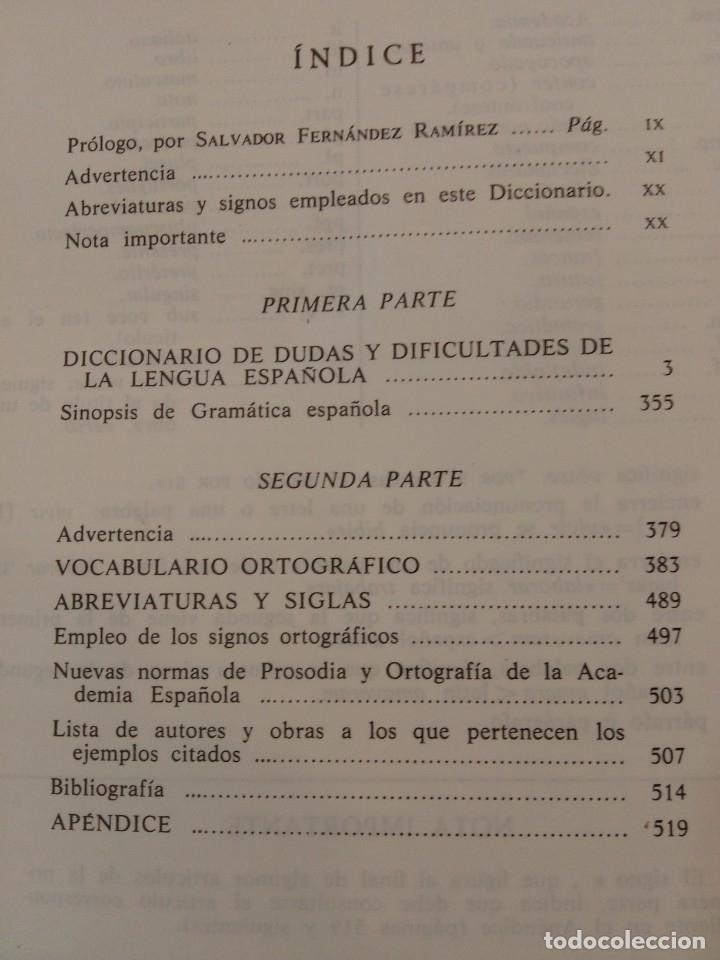 Diccionarios de segunda mano: Diccionario de dudas de la lengua española MANUEL SECO Aguilar,1979 - Foto 4 - 27867987