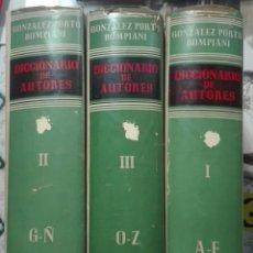 Diccionarios de segunda mano: GONZÁLEZ PORTO-BOMPIANI. DICCIONARIO DE AUTORES. 1963. Lote 176372195