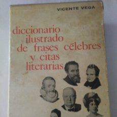 Diccionarios de segunda mano: ESTUCHE DICCIONARIO ILUSTRADO DE FRASES CELEBRES Y CITAS LITERARIAS .VICENTE VEGA ( GUSTAVO GILI ). Lote 176647605