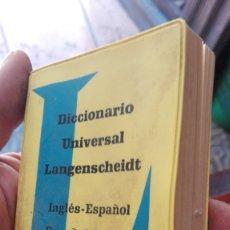 Diccionarios de segunda mano: DICCIONARIO UNIVERSAL LANGENSCHEIDT-INGLES ESPAÑOL. Lote 176819954