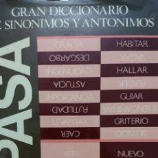 Diccionarios de segunda mano: GRAN DICCIONARIO DE SINÓNIMOS Y ANTÓNIMOS. ESPASA, EDICIÓN ESPECIAL 1989. BBVA 1319 PAG FN218. Lote 177204657