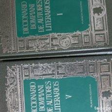 Diccionarios de segunda mano: DICCIONARIO BOMPIANI DE AUTORES LITERARIOS. Lote 178237318