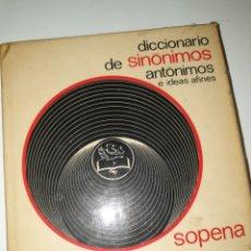 Diccionarios de segunda mano: LOTE 3 DICCIONARIOS SINONIMOS Y ANTONIMOS. Lote 178327365