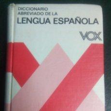 Diccionarios de segunda mano: DICCIONARIO ABREVIADO DE LA LENGUA ESPAÑOLA. 1988. VOX. Lote 178608350