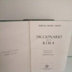Diccionarios de segunda mano: DICCIONARIO DE LA RIMA 1946. Lote 178883797