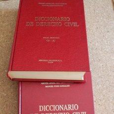 Diccionarios de segunda mano: DICCIONARIO DE DERECHO CIVIL. PONS GONZÁLEZ (MANUEL), ARCO TORRES (MIGUEL ÁNGEL). Lote 178961510
