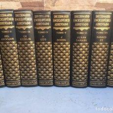 Diccionarios de segunda mano: DICCIONARIO ENCICLOPEDICO ABREVIADO 7 TOMOS MAS APENDICE DE A-Z. Lote 179113208