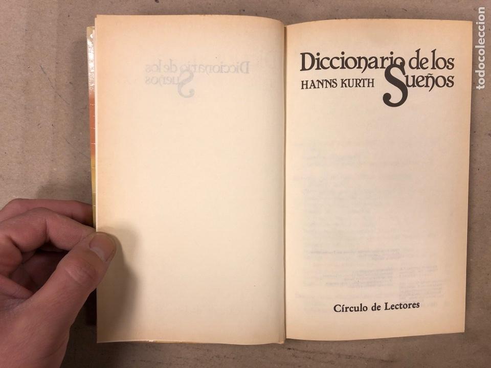 Diccionarios de segunda mano: DICCIONARIOS DE LOS SUEÑOS. HANNS KURTH. CÍRCULO DE LECTORES 1982. 295 PÁGINAS. TAPA DURA. - Foto 2 - 191686225