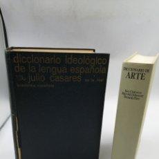 Diccionarios de segunda mano: DICCIONARIO DE IDEOLÓGICO DE LA LENGUA ESPAÑOLA Y DICCIONARIO DEARTE. Lote 180872927