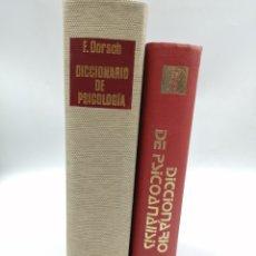 Diccionarios de segunda mano: DICCIONARIO DE PSICOLOGÍA Y DICCIONARIO DE PSICOANÁLISIS . Lote 180874386