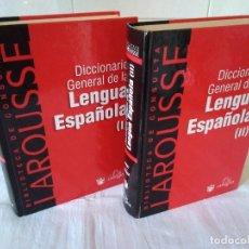 Diccionarios de segunda mano: 128-DICCIONARIO GENERAL DE LA LENGUA ESPAÑOLA, DOS TOMOS, LAROUSSE. Lote 180929157