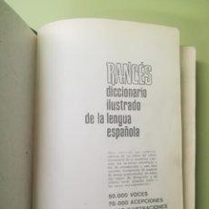 Diccionarios de segunda mano: RANCÉS. DICCIONARIO ILUSTRADO DE LA LENGUA ESPAÑOLA.. Lote 181949545