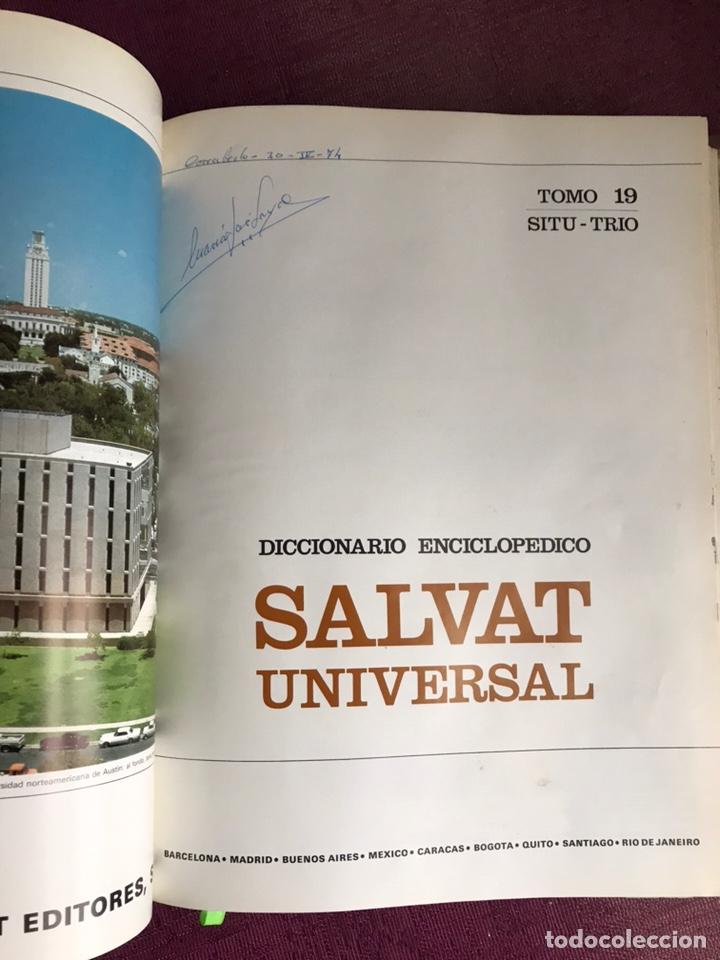 Diccionarios de segunda mano: Diccionario enciclopédico Salvat 1974. Completo 20 Tomos - Foto 6 - 182348167