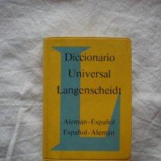 Diccionarios de segunda mano: DICCIONARIO UNIVERSAL LANGENSCHEIDT. ALEMA-ESPAÑOL. ESPAÑOL-ALEMAN. Lote 183561545