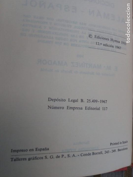 Diccionarios de segunda mano: Diccionario Manual Alemán Español Cuyas. Ediciones hymsa - Foto 4 - 183592298