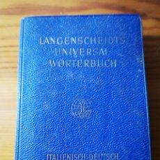 Diccionarios de segunda mano: DICCIONARIO UNIVERSAL ITALIANO - ALEMÁN LANGENSCHEIDTS, 1959. Lote 183854971