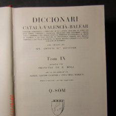 Diccionarios de segunda mano: DICCIONARI,CATALÁ,VALENCIÁ,BALEAR-Nº 9. Lote 183897227