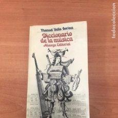 Diccionarios de segunda mano: DICCIONARIO DE LA MÚSICA. Lote 183951553