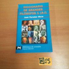 Diccionarios de segunda mano: DICCIONARIO DE GRANDES FILÓSOFOS. Lote 184491313