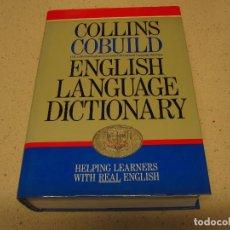 Diccionarios de segunda mano: ENGLISH LANGUAGE DICTIONARY COLLINS COBUILD MUY BUEN ESTADO. Lote 186092485