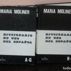 Diccionarios de segunda mano: 2 TOMOS DICCIONARIO DE USO DEL ESPAÑOL AÑO 1997. Lote 186178090