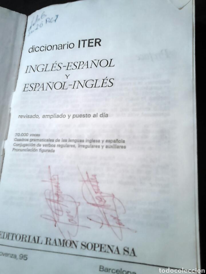 Diccionarios de segunda mano: Excelente diccionario, iter sopena,inglés -español, año 1977 - Foto 5 - 187119431