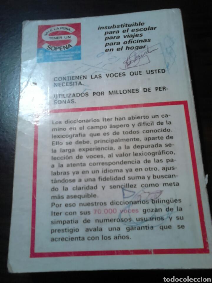 Diccionarios de segunda mano: Excelente diccionario, iter sopena,inglés -español, año 1977 - Foto 6 - 187119431
