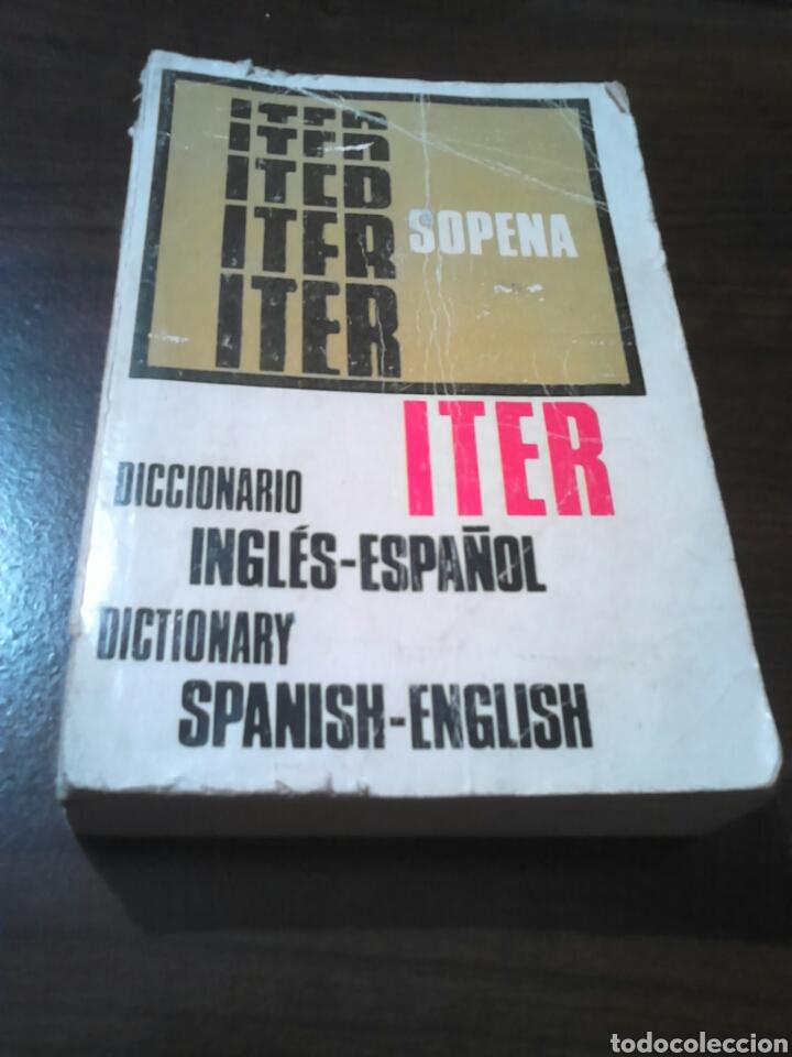 EXCELENTE DICCIONARIO, ITER SOPENA,INGLÉS -ESPAÑOL, AÑO 1977 (Libros de Segunda Mano - Diccionarios)