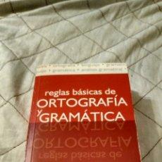 Libri di seconda mano: REGLAS BÁSICAS DE ORTOGRAFÍA Y GRAMÁTICA. Lote 187527536
