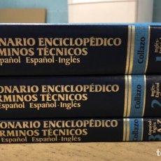 Diccionarios de segunda mano: DICCIONARIO ENCICLOPÉDICO DE TÉRMICOS TÉCNICOS. INGLÉS-ESPAÑOL. COLLAZO. 3 TOMOS. MCGRAWHILL (1980). Lote 169219337