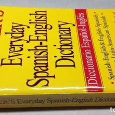 Diccionarios de segunda mano: WEBSTER'S EVERYDAY SPANISH ENGLISH DICTIONARY DICCIONARIOZ503. Lote 189179228