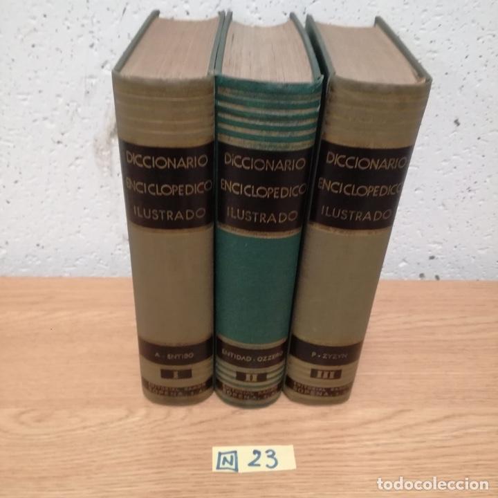 DICCIONARIO ENCICLOPÉDICO ILUSTRADO TRES TOMOS (Libros de Segunda Mano - Diccionarios)