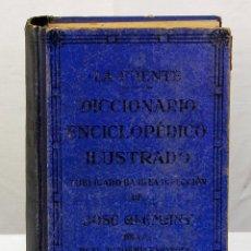 Diccionarios de segunda mano: DICCIONARIO ENCICLOPEDICO ILUSTRADO LA FUENTE JOSE ALEMANY 1952. Lote 189258963