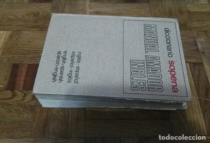Diccionarios de segunda mano: Diccionario Sopena Manual Amador Ingles Español Español Ingles 1974 - Foto 7 - 189417162