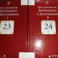 Livres d'occasion: DICCIONARIO DE SINÓNIMOS Y ANTÓNIMOS 2 TOMOS. ESPASA CALPE - EL MUNDO. Lote 189428390