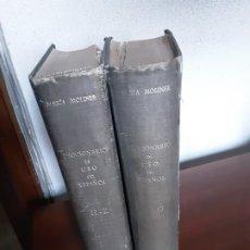 Diccionarios de segunda mano: DICCIONARIO DE USO DEL ESPAÑOL MARIA MOLINER 2 TOMOS PRIMERA EDICION 1966. Lote 189687422